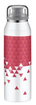 ALFI Trinkflasche Isobottle white-pink 0,5 l