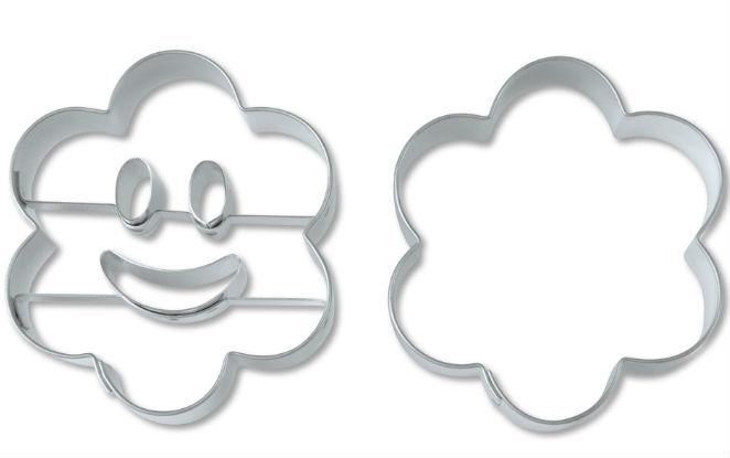 STÄDTER Ausstechformen-Set Smiley Blume