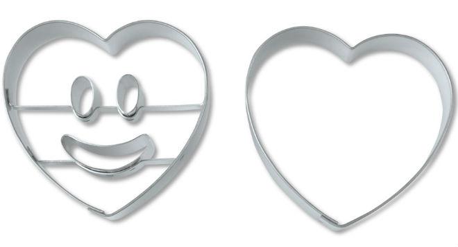 STÄDTER Ausstechformen-Set Smiley Herz