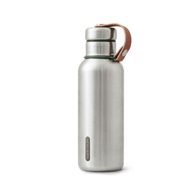 Black+Blum Edelstahl Wasserflasche, Olive